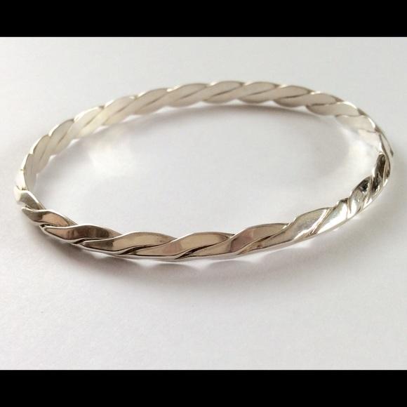 Tiffany Co Jewelry Vintage Tiffany Co Twisted Silver Bracelet Poshmark